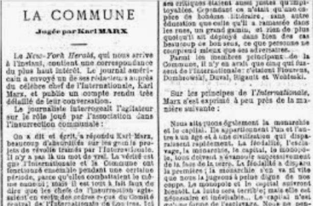 Marx, la Comune di Parigi